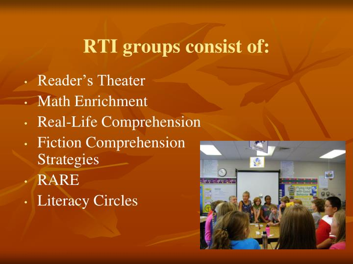 RTI groups consist of: