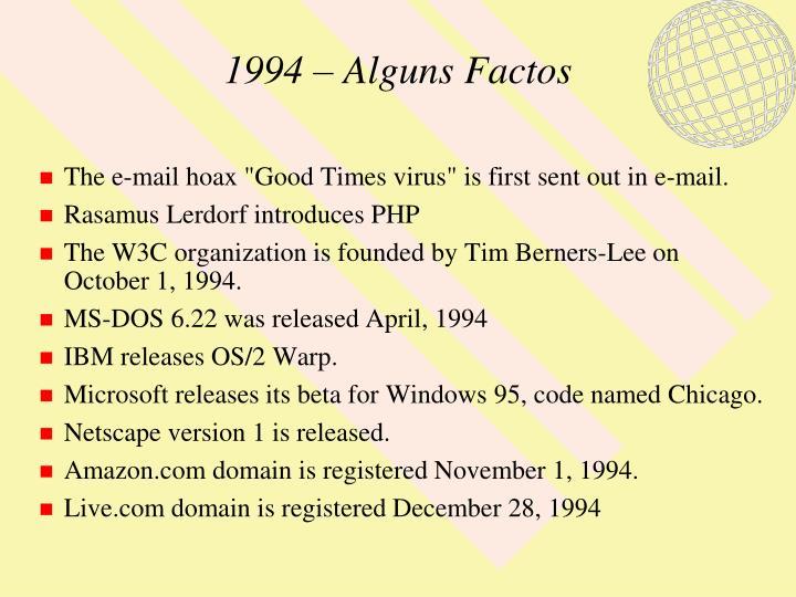 1994 – Alguns Factos