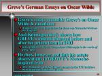 greve s german essays on oscar wilde