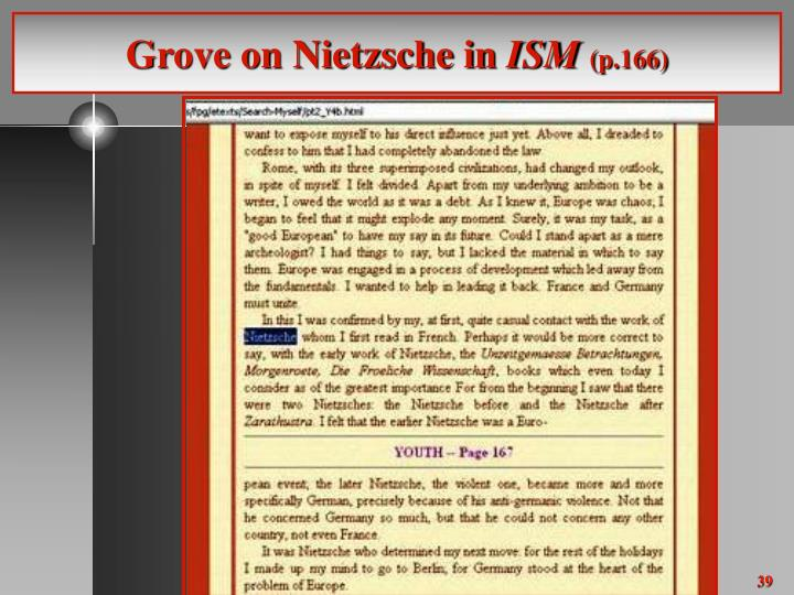 Grove on Nietzsche in