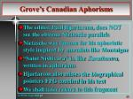 grove s canadian aphorisms1