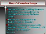 grove s canadian essays