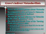 grove s indirect nietzsche hints