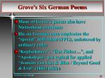 grove s six german poems