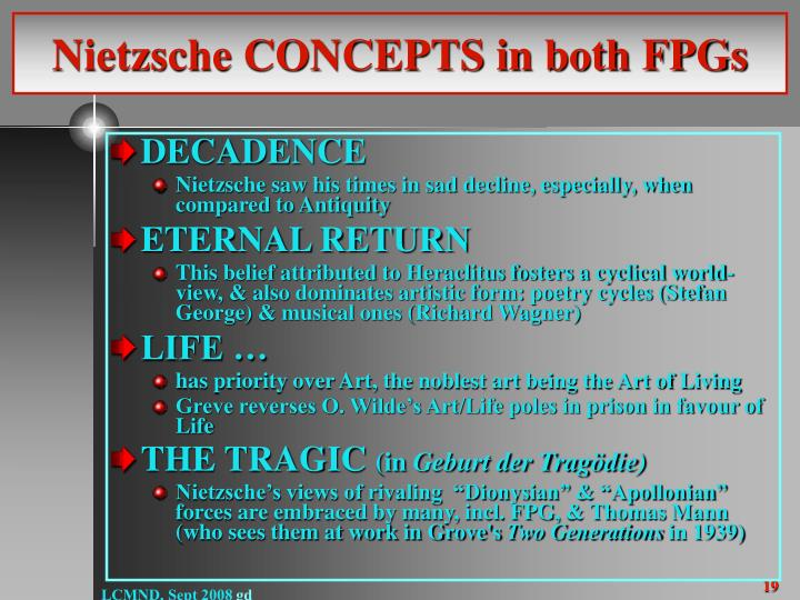 Nietzsche CONCEPTS in both FPGs