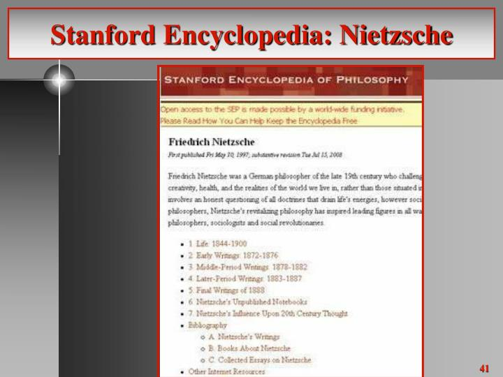 Stanford Encyclopedia: Nietzsche
