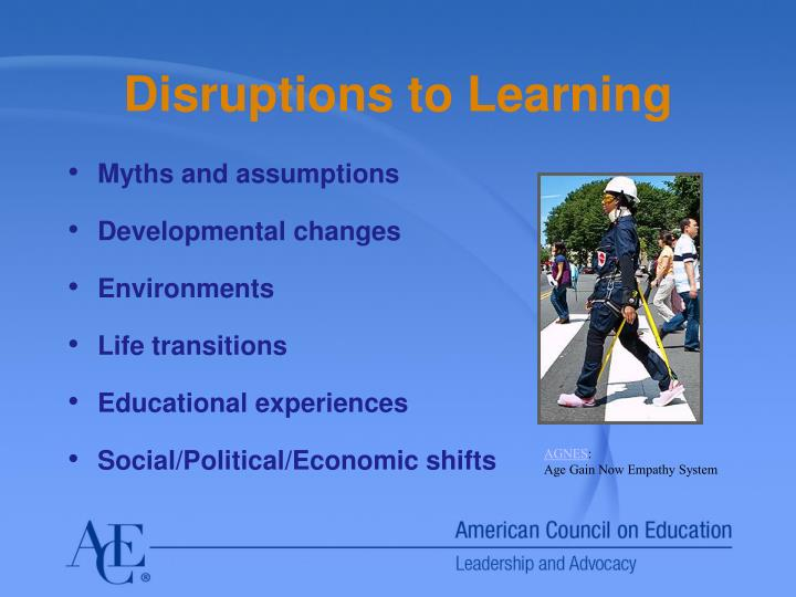 Disruptions to Learning
