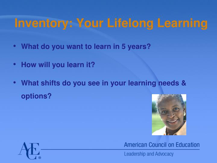 Inventory: Your Lifelong Learning