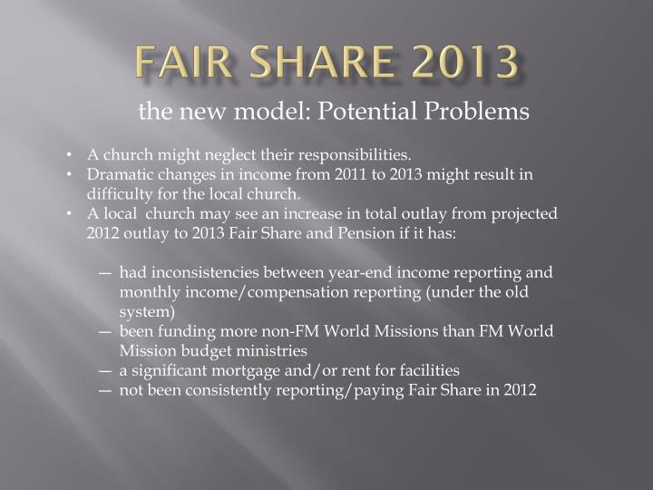 Fair Share 2013