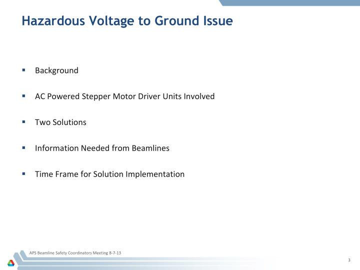 Hazardous voltage to ground issue