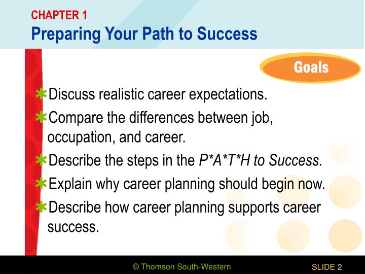 Chapter 1 preparing your path to success