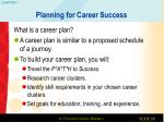 planning for career success