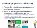 coherent progressions of l earning