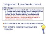 integration of practices content