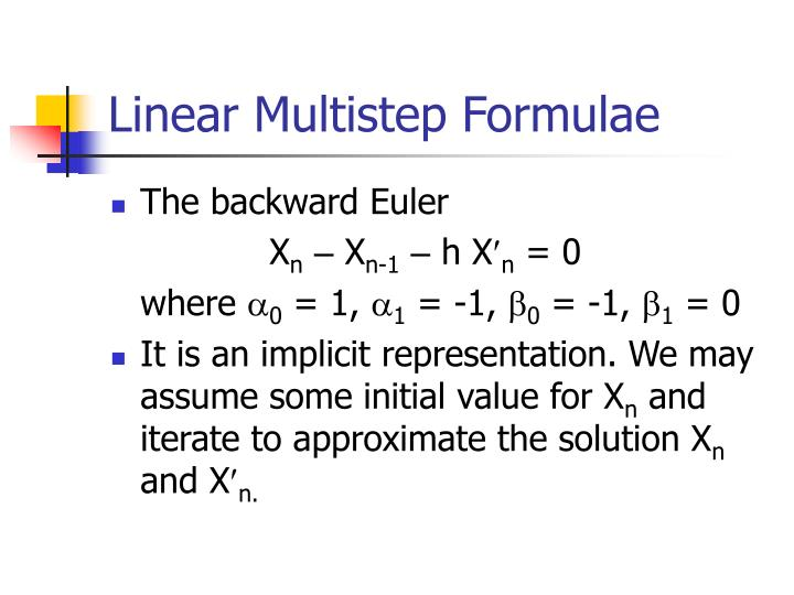 Linear Multistep Formulae