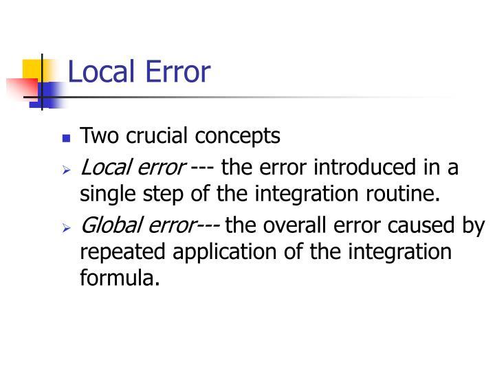 Local Error