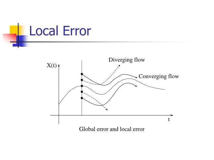 Diverging flow