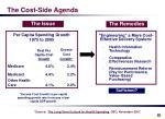 the cost side agenda