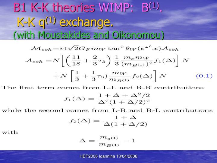 B1 K-K theories