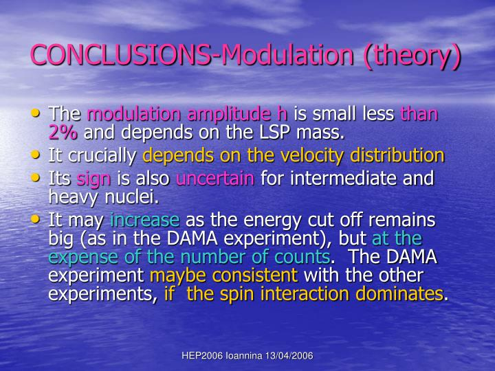CONCLUSIONS-Modulation (theory)