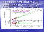 experimental verification of ha hubble s law h 0 1 10 10 h 1 yr h 0 100h km s mpc 0 6 h 0 8