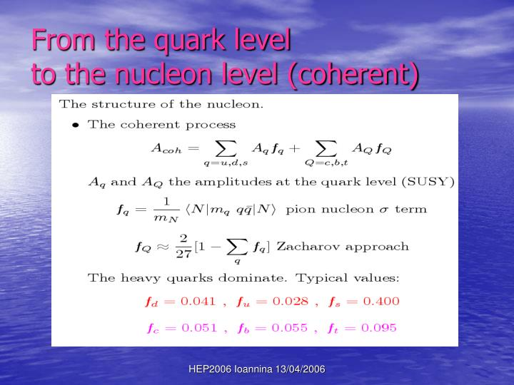 From the quark level