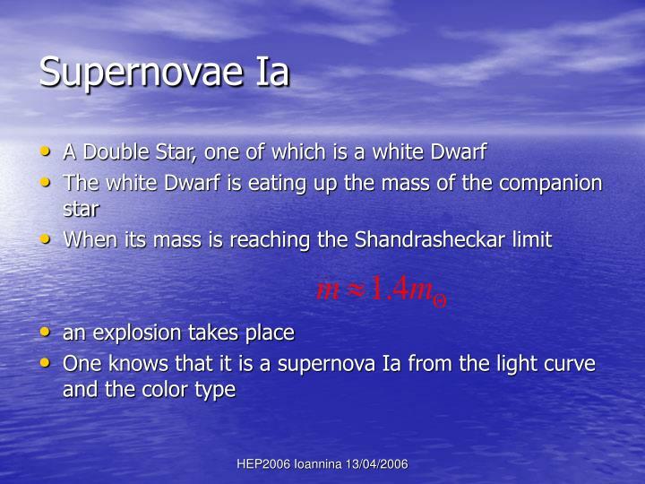 Supernovae Ia