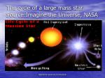 the cycle of a large mass star source imagine the universe nasa