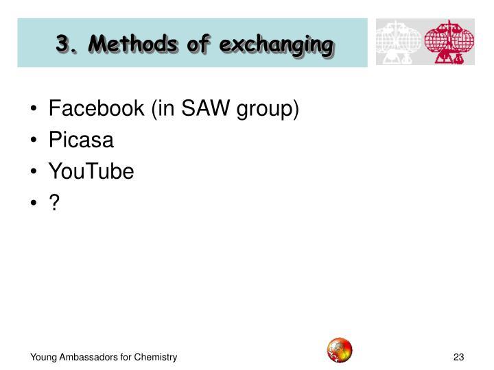 3. Methods of exchanging