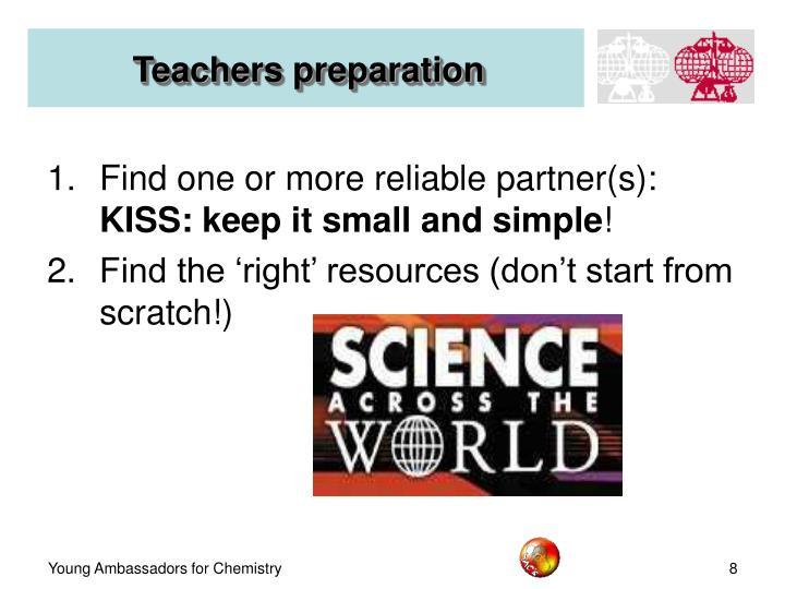 Teachers preparation