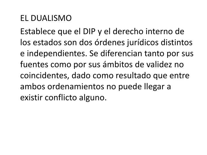 EL DUALISMO