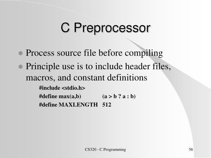 C Preprocessor