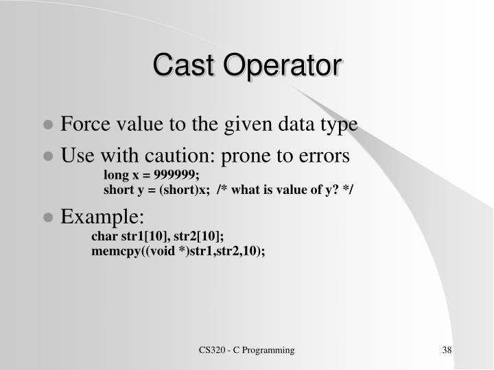 Cast Operator