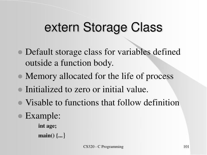 extern Storage Class