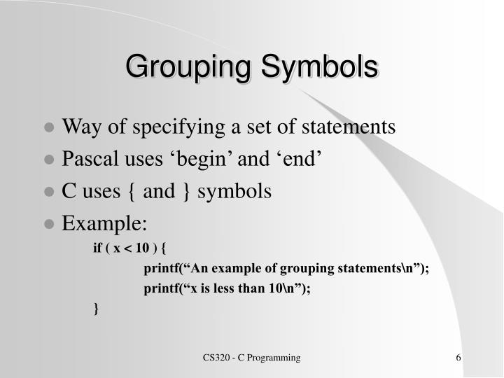 Grouping Symbols