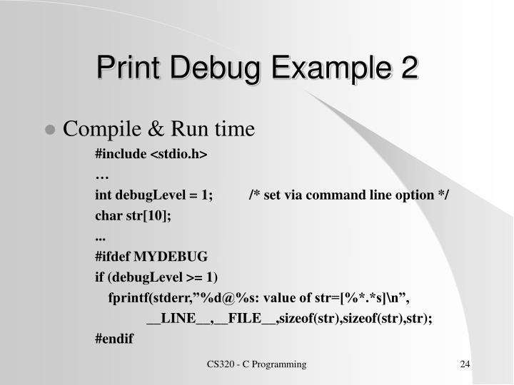 Print Debug Example 2