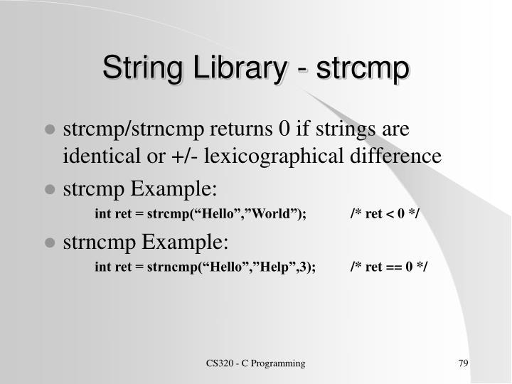 String Library - strcmp
