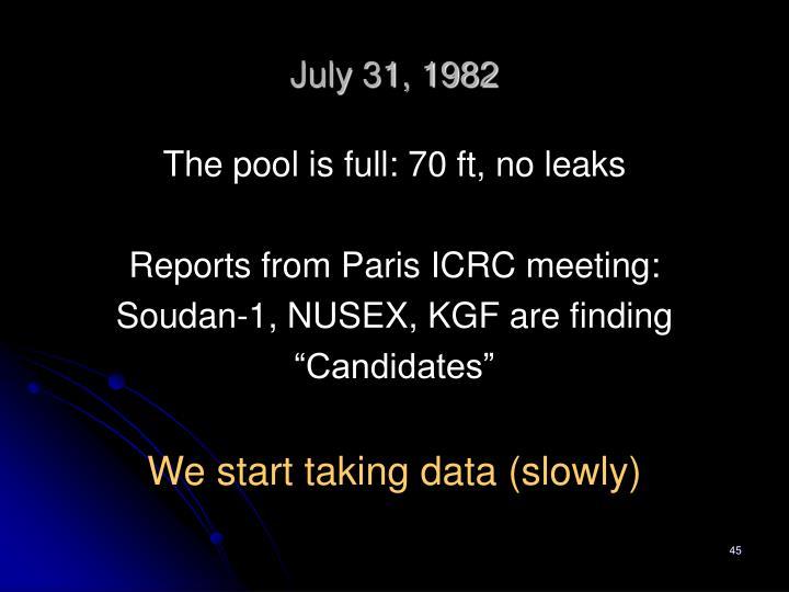 July 31, 1982