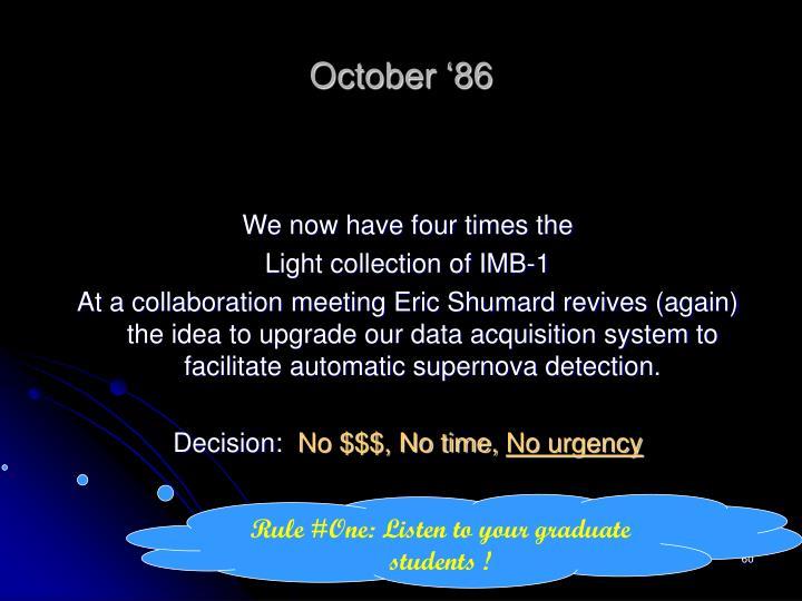 October '86