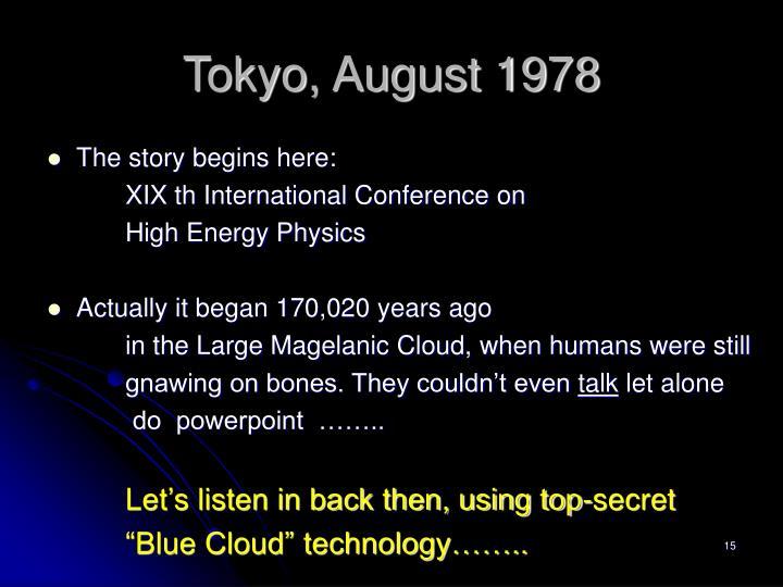 Tokyo, August 1978