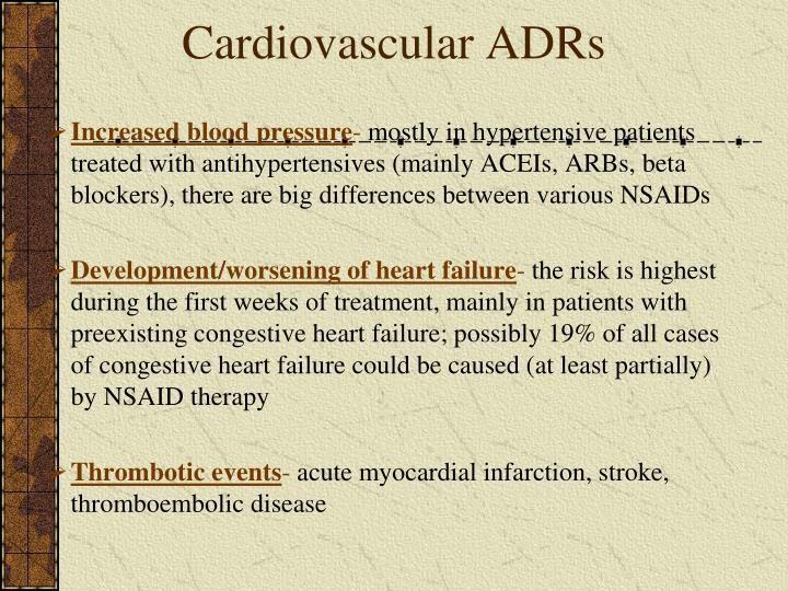 Cardiovascular ADRs