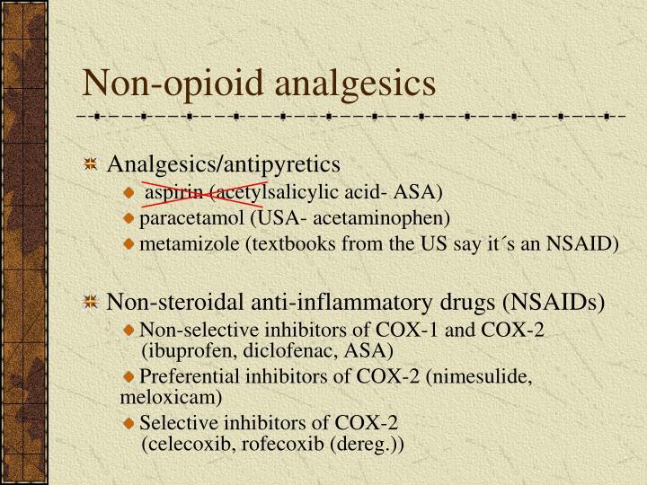 Non-opioid analgesics