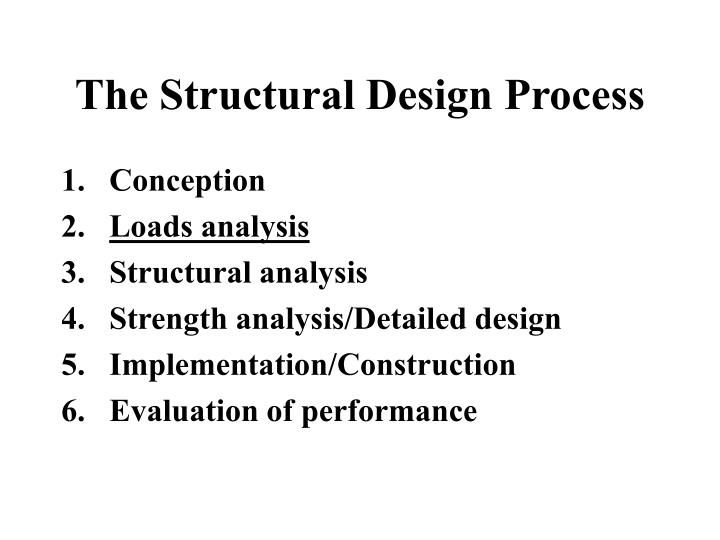 The Structural Design Process