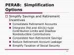 perab simplification options1