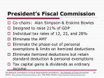 president s fiscal commission