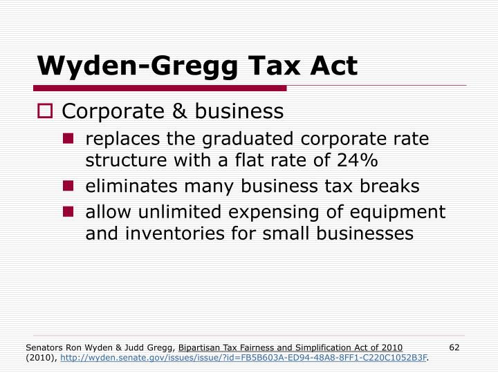 Wyden-Gregg Tax Act