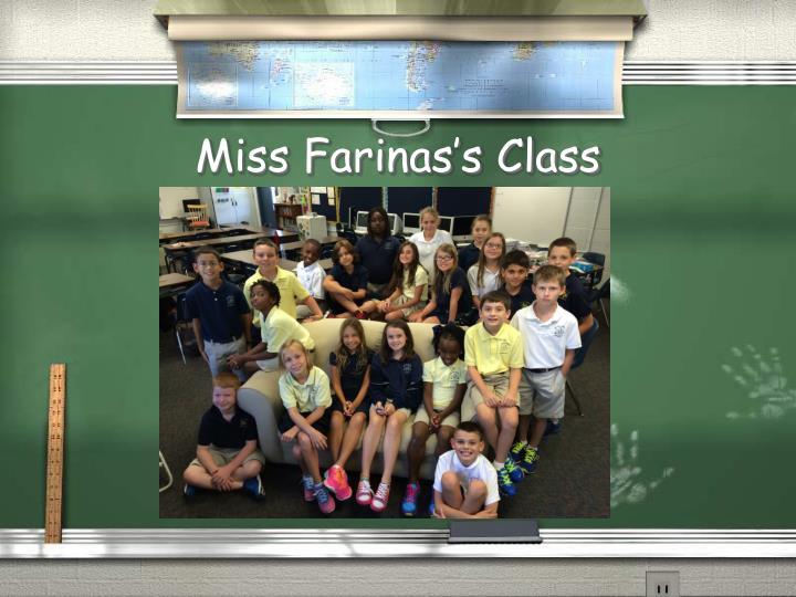 Miss Farinas