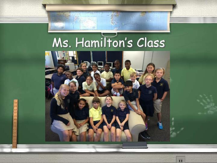 Ms. Hamilton