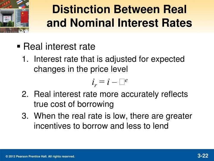Distinction Between Real