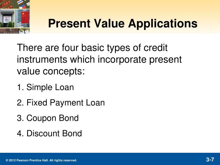 Present Value Applications